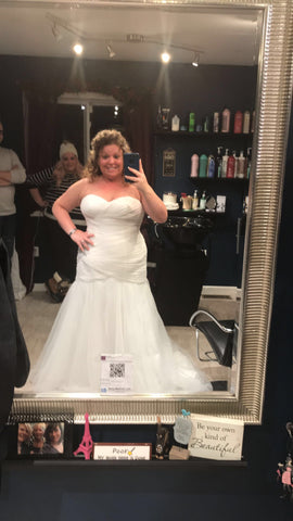 David's Bridal 'Strapless Mermaid'