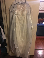 Stella York 'Romantic Casual' size 10 new wedding dress front view on hanger