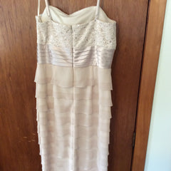 Jess Howard '5m6984' size 12 used wedding dress back view on hanger