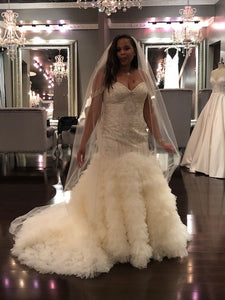 Winnie Couture 'GEMENI' wedding dress size-12 NEW