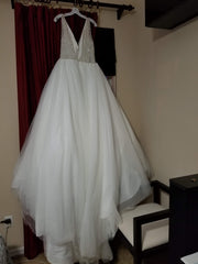 Alfred Angelo 'Sapphire' size 10 new wedding dress back view on hanger