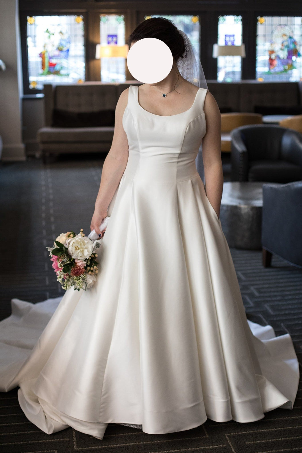 BHLDN 'Bishop' wedding dress size-10 PREOWNED