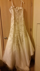 Fiore Couture 'Shirley' size 20 used wedding dress back view on hanger
