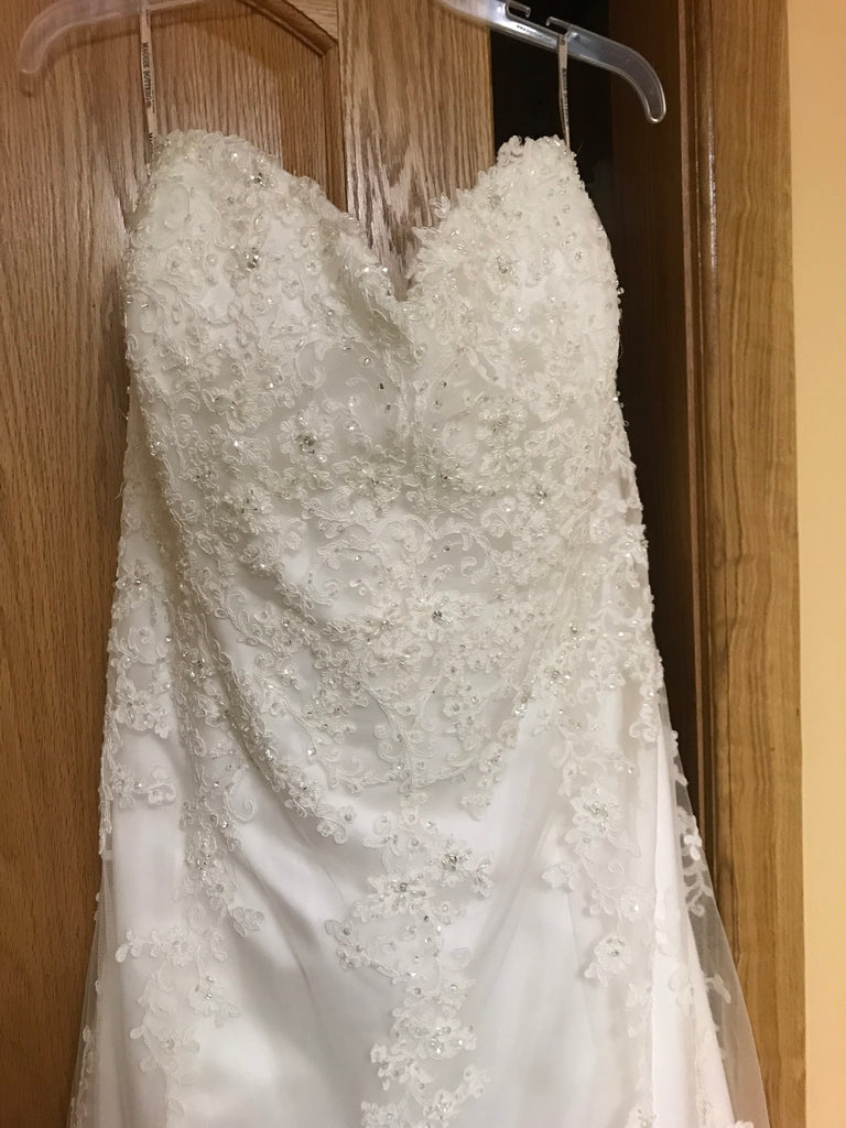 Maggie Sottero 'Emma' size 22 new wedding dress front view on hanger