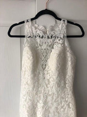 St. Patrick 'Bambari' size 8 new wedding dress front view close up