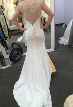 Load image into Gallery viewer, Alfred Angelo '2524' size 6 new wedding dress back view on bride
