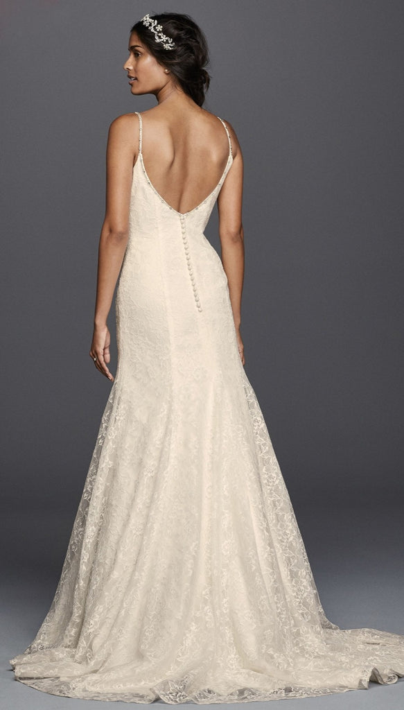 Jewel 'V3801' size 14 new wedding dress back view on model