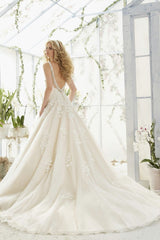 Mori Lee '2811' size 12 used wedding dress back view on model