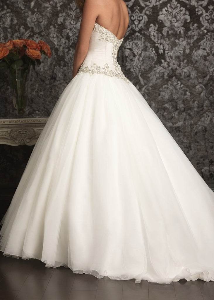 Allure Bridals '9017' size 6 new wedding dress back view on model