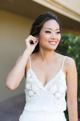 Liz Martinez 'Spring 2017' size 4 used wedding dress front view on bride