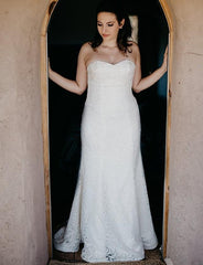 Sareh Nouri 'Marigold' size 12 used wedding dress front view on bride
