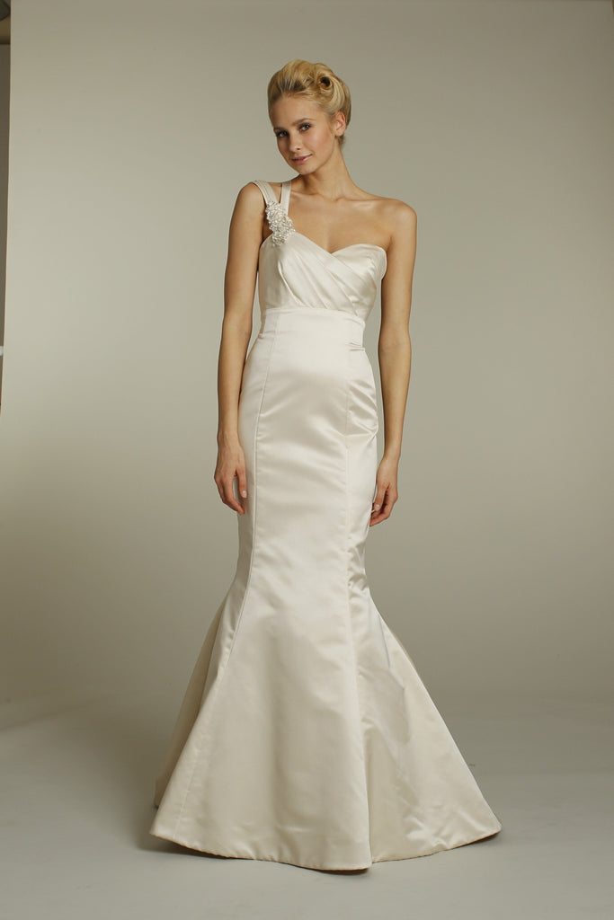Alvina Valenta 9159 One Shoulder Mermaid Wedding Dress - Alvina Valenta - Nearly Newlywed Bridal Boutique - 1