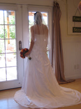 Load image into Gallery viewer, David's Bridal A-Line Gown With Lace Up Corset