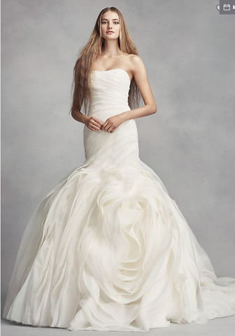 White by Vera Wang 'Bias-Tier Trumpet'
