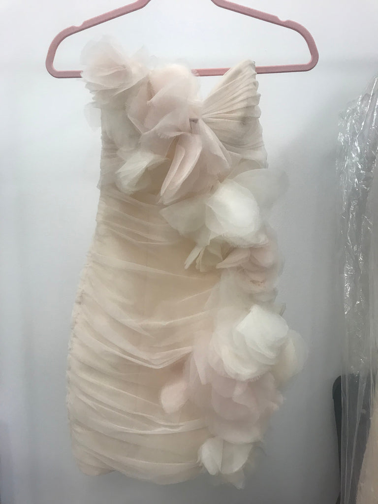 Hayley Paige 'Orchard' size 2 used wedding dress front view on hanger