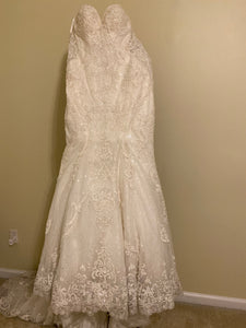 Martina Liana '803' size 4 used wedding dress back view on hanger