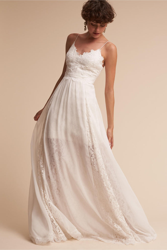 BHLDN 'Gibson' size 2 new wedding dress front view on model