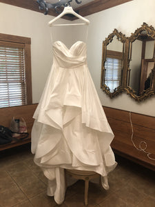 Hayley Paige 'Apollo' size 8 used wedding dress front view on hanger
