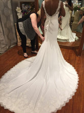 Load image into Gallery viewer, Pronovias 'Agata' size 6 used wedding dress back view on bride