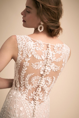 BHLDN 'Sheridan' size 8 new wedding dress back view close up on model