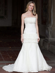 Priscilla of Boston Platinum STYLE PL163 Wedding Dress - Priscilla of Boston - Nearly Newlywed Bridal Boutique - 2