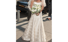 Load image into Gallery viewer, Vera Wang 'Victoria Luxe' size 8 used wedding dress front view on bride