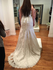 Essense of Australia 'D1617' size 16 new wedding dress back view on bride