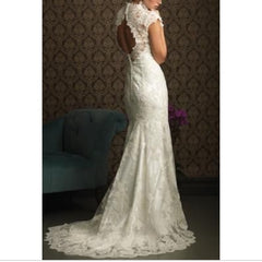 Allure Bridals '8764' size 10 used wedding dress back view on model
