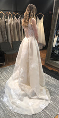 Ines Di Santo 'Coco' size 12 used wedding dress back view on bride