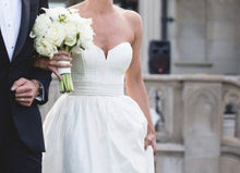 Load image into Gallery viewer, Amsale 'Cameron' size 2 used wedding dress front view on bride