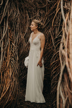 Load image into Gallery viewer, Pronovias 'Escala' size 4 used wedding dress front view on bride