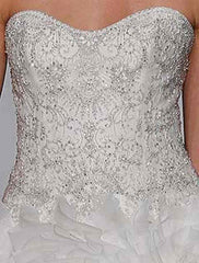 Kenneth Pool 'Anastasia' size 2 used wedding dress front view on bodice