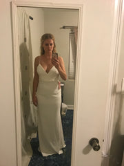 Badgley Mischka 'At Last' size 6 new wedding dress front view on bride