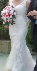 Casablanca 'Belladonna' size 14 used wedding dress front view on bride