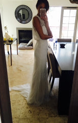 Monique Lhuillier 'Timeless' size 8 new wedding dress side view on bride