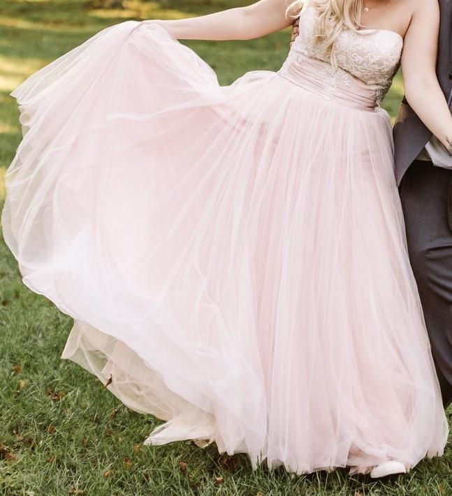 David's Bridal 'Jewel Strapless Tulle'