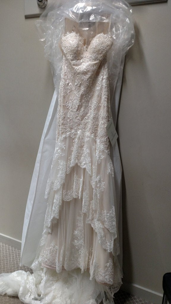 Essence of Australia '1910' size 6 new wedding dress front view on hanger