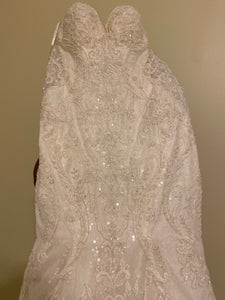 Martina Liana '803' size 4 used wedding dress front view on hanger