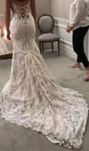 Load image into Gallery viewer, Pnina Tornai 'Sheath 4348A' size 4 used wedding dress back view on bride