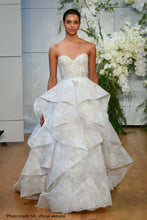 Load image into Gallery viewer, Monique Lhuillier 'Sofia' size 6 used wedding dress front view on model