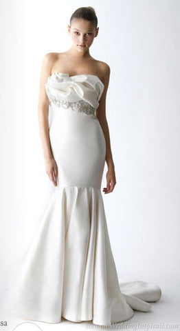 Marchesa 'Ivory Beaded'