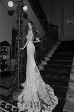 Load image into Gallery viewer, Berta '15-114' size 4 used wedding dress back view on model