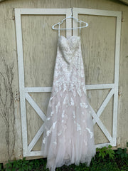 Essence Of Australia 'Moscato 6257' size 6 used wedding dress front view on hanger
