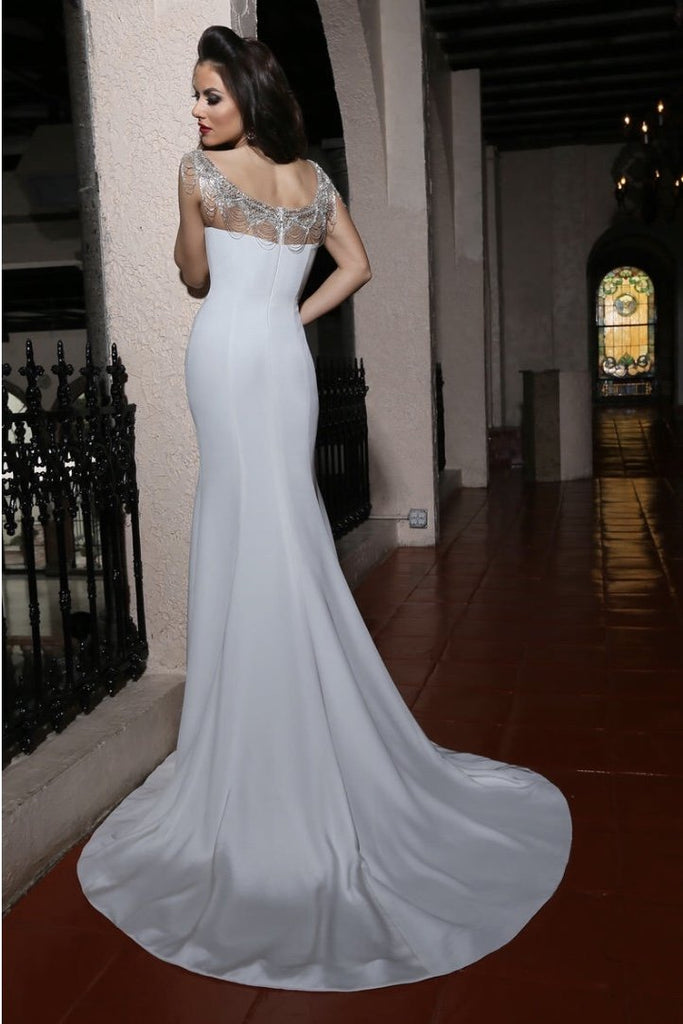 Cristiano Lucci 'Brie' size 14 new wedding dress back view on model