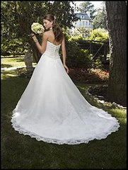 Casablanca 'Strapless' size 6 new wedding dress back view on model