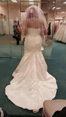 David's Bridal 'Rhinestone' size 16 new wedding dress back view on bride
