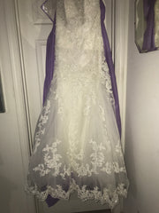 Maggie Sottero 'Camden' size 12 new wedding dress front view on hanger