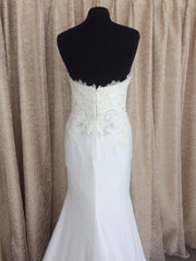 Pronovias 'Alicia' size 8 sample wedding dress back view on mannequin