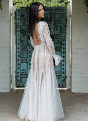 Inbal Dror 'BR-16-10' size 0 used wedding dress back view on bride