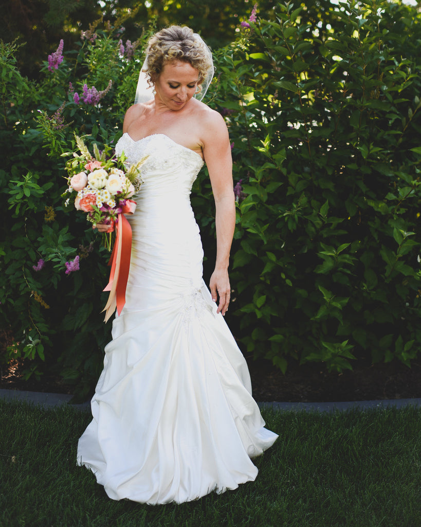 Maggie Sottero 'Strapless Satin Wrap' - Maggie Sottero - Nearly Newlywed Bridal Boutique - 1